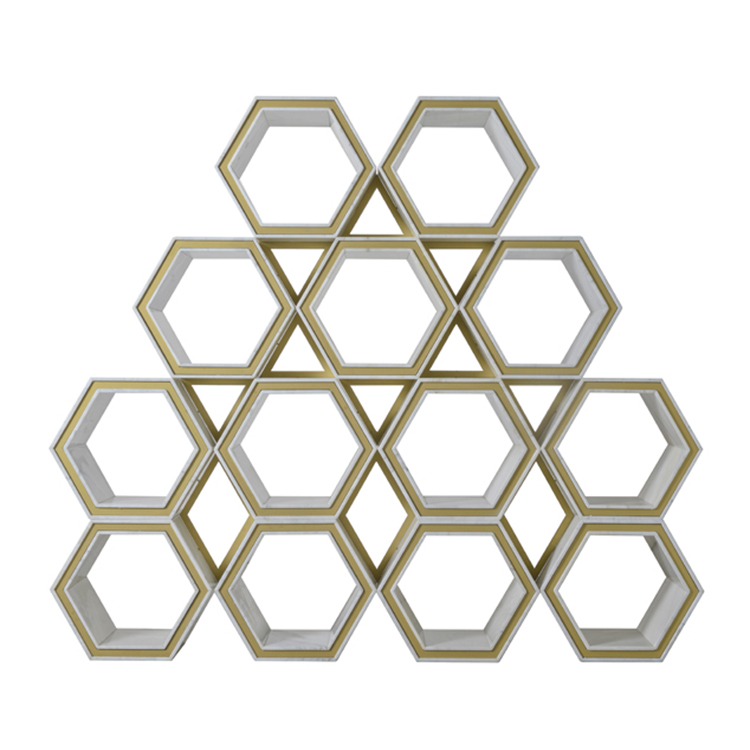Mattis-IntNow furniture collection-Hexagon Bookcase_b