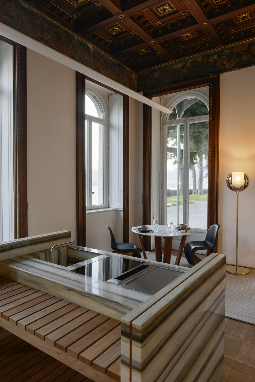 Intnow - marble design - Zerbino fireplace